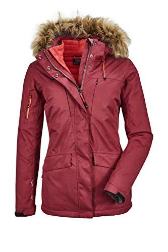 Killtec Chaqueta funcional 3 en 1 para mujer Ostfold Wmn Jckt E con capucha desmontable y chaqueta con cremallera en aspecto de plumón., Mujer, 35612-000, rojo oscuro, 44