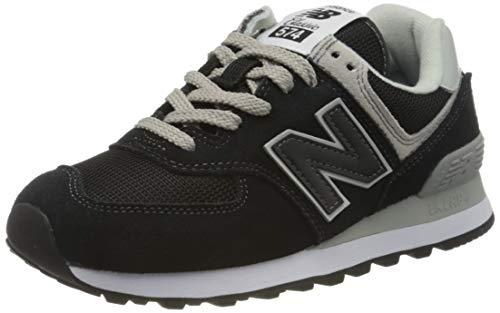 New Balance Wl574 - Zapatillas para Mujer, Black/White, 36.5 EU