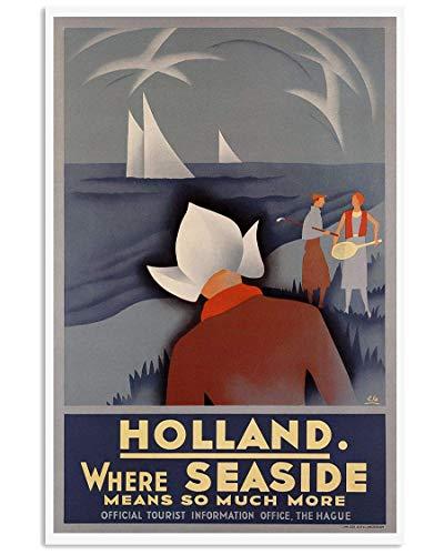 posters for men Holland Vintage Travel Funny Poster Gift for Men Woman Gift for Fan Love Posters No Framed