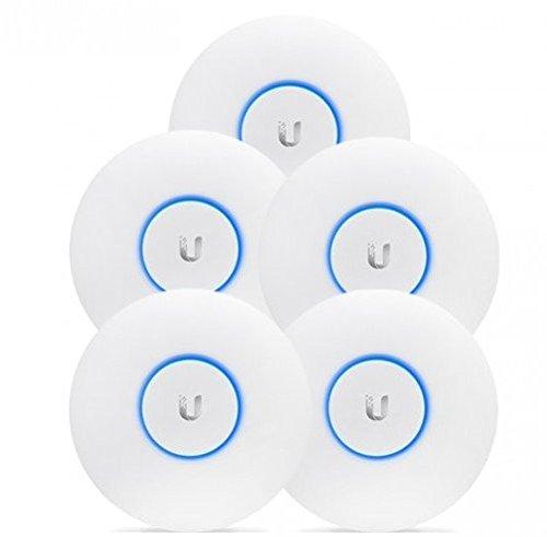 Ubiquiti Networks UAP-AC-LITE - Pack de 5 Puntos de acceso para interior, 2.4 GHz a 300 Mbps, 5 GHz a 867 Mbps, 160 x 31.45 mm, Blanco