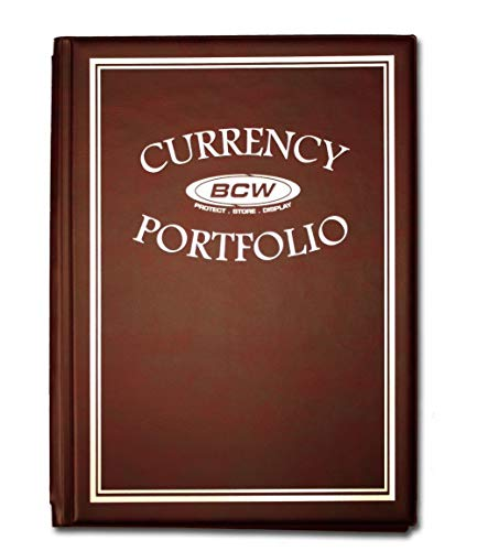 BCW – BURGUNDY Currency Portfolio – (Dollar Bill Combo Storage Album) – Currency Collecting Supplies
