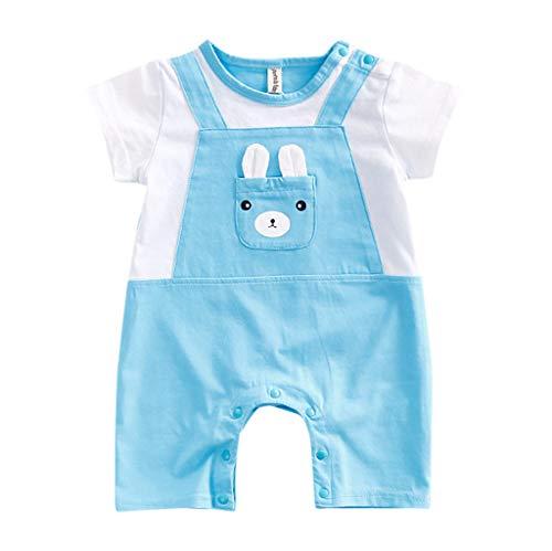 TEFIIR Neugeborene Baby Mädchen Cartoon Infant Rompers Jumpsuit Outfits Cartoon Kletteranzug Kurzarm Jumpsuit (0-18M)
