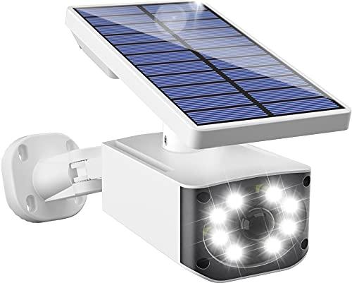 Biling センサーライト 屋外 ソーラーライト 防犯ライト ダミーカメラ型 人感センサーライト 2600mAh大容量 太陽光充電 自動点灯 8LED 配線不要 取付簡単 角度調節可能 防犯対策 屋外照明 庭 玄関などに対応