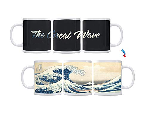 Color Changing The Great Wave ThermoH Exray Ceramic Coffee Mug