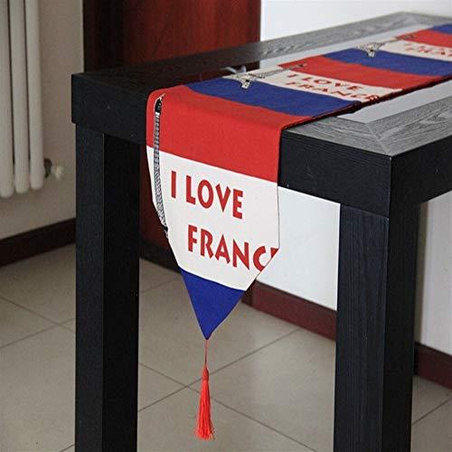 YIJTE Bandera de la Tabla del paño de la Bandera de País de Regalos Mantel Tabla colchonetas Bandera de Fin de Mesa Adecuado para hogar Moderno. (Color : B, Size : 33x210cm)
