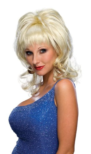 Rubie's Blond Country Singer Wig, Yellow, One Size