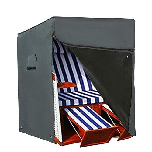HENTEX Housse de protection pour fauteuil-cabine de plage - Matériau avec fonction respiration active - 137 x 100 x 140/165 cm