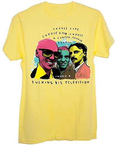 T-Shirt Trainspotting Mega TV del…Cinema Cult - Donna-L - Gialla