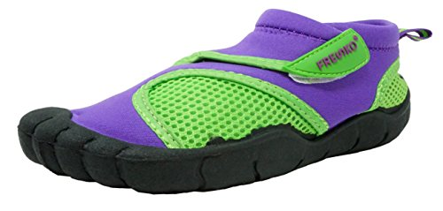 Fresko Kids Water Shoes for Girls, G1023, Purple/Lime, 1 M US Little Kid