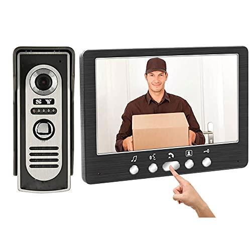 OUYA Videoportero de la Prenda Impermeable al Aire Libre de la visión Nocturna de la cámara del Metal del LCD de Alta definición de 7 Pulgadas para el apartamento de la Oficina del Chalet