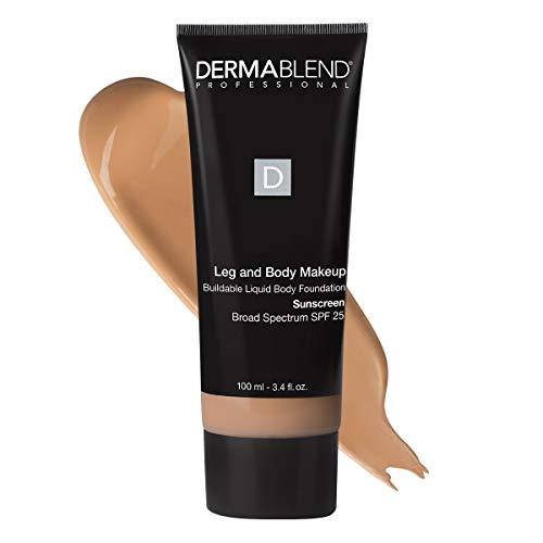 Dermablend Professionelles Bein- und Körper-Make-up - Aufbaubare flüssige Foundation - Dermatologen - Parfümfrei - Allergiegeprüft - Breitspektrum LSF 25 - 35C Hellbeige - 100ml