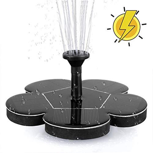 Sarplle Solar Springbrunnen 1 Set Blumenförmige Teichpumpe 7V 1.4W Bürstenlose Wasserpumpe für Baumarkt Garten, Brunnen, Miniteich
