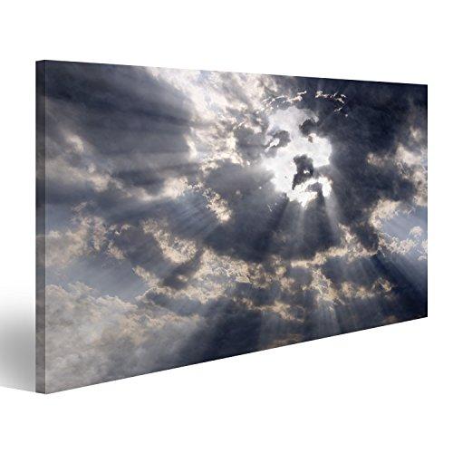 islandburner Bild Bilder auf Leinwand Jesus Gesicht in Wolken Himmel Poster, Leinwandbild, Wandbilder