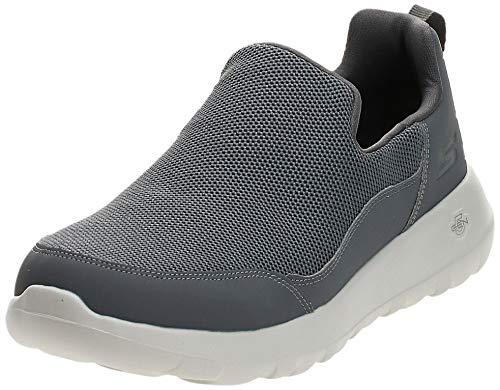 Skechers Herren GO Walk MAX-PRIVY-54626 Slip On Sneaker, Grau (Charcoal Charcoal), 43.5 EU
