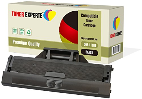 TONER EXPERTE Compatible with 593-11108 HF44N Premium Toner Cartridge for Dell B1160, B1160w, B1163, B1163w, B1165, B1165nfw