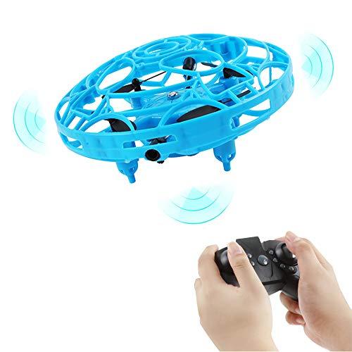78Henstridge UFO Mini Drohne, Mini Drohnen für Kinder,Fernbedienung und Handsensor RC Quadcopter,Infrarot Induktions Flying Ball für Jungen Mädchen Indoor (Fernbedienung handhaben)