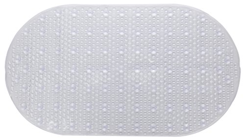 HiSpirit Non Slip Bath Mat Tub Mat Pebbles Bathtub Mats,Slip Resistant Shower Mats,Machine Washable (Clear)