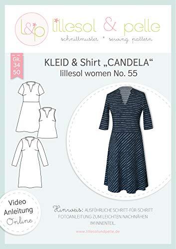 lillesol & pelle Schnittmuster lillesol Women No.55 Kleid & Shirt Candela in Größe 34-50 zum Nähen mit Foto-Anleitung und Video