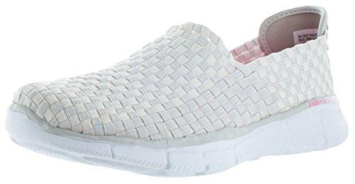 Skechers - Zapatillas de Running de Malla para Mujer Blanco Blanco