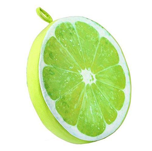 Demarkt Fruchtkissen Obstkissen Frucht Sitzkissen Stuhlkissen Sitzauflage Dekokissen Zitrone Stil