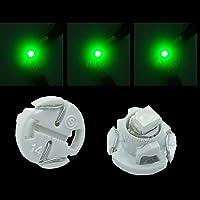 PA 10個 T4.2 3258チップ SMD LED ダッシュボードランプ ウェッジタイプ 緑色