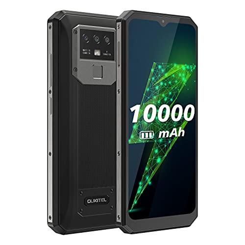 OUKITEL K15 Plus SIMフリースマートフォン本体 10000mAh バッテリー Android 10.0スマホ 6.52 インチデュアル SIM 4G シムフリー スマホ本体 32GB ROM+3GB RAM 16MP+2MP+ 2MPカメラフェースと8MP AI前側カ NFC GPS メラ 指紋ロック解除 (黒)