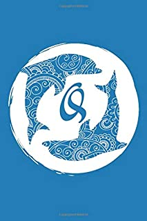 Q: Initial Q Monogram Notebook Journal Gift Circular Dolphin Mandala design (Dolphin Monogram Journals)