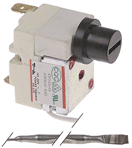 Bartscher Thermostat de sécurité pour friteuse Imbiss II, Imbiss I, Snack III 1 pôle, diamètre 4 x 100 mm, 1NC 230 °C, 410 mm, 1 pôle