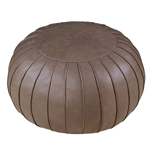 Unstuffed Pouf Cover, Ottoman, Bean Bag Chair, Foot Stool, Foot Rest, Storage Solution for or Living Room, Bedroom or Wedding Gifts (Empty & New)(Coffee)