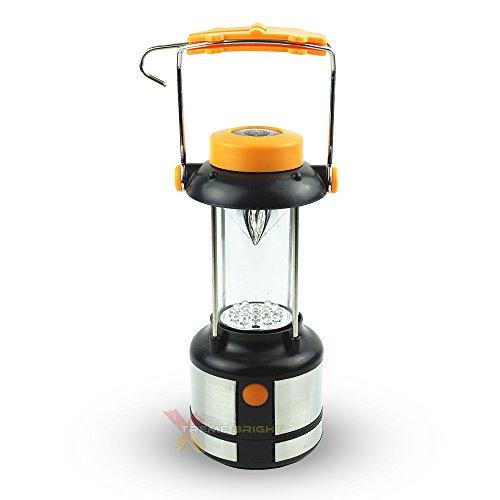 Xtreme Bright Super Pro Series 17 Lanterne LED, Matériel De Camping avec 17 LED Puissantes avec Batterie De Longue Durée, Lampe Camping avec 2 Modes, Crochet & Boussole Intégrés Citron Yellow
