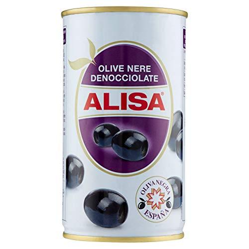 Alisa Olive Nere Denocciolate in Salamoia, 340g