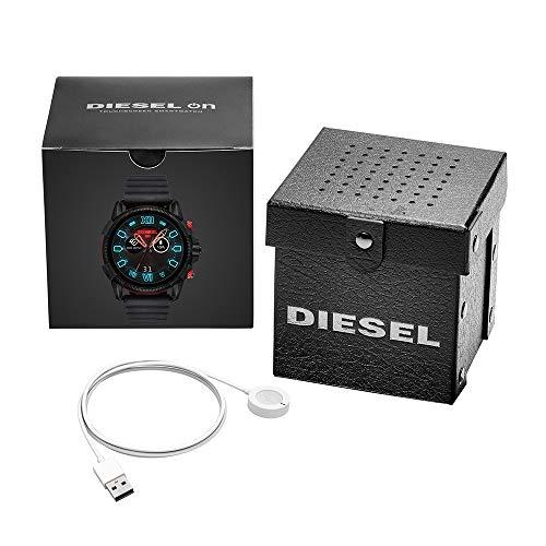 Diesel Homme Écran Tactile Digital Montre Connectée avec Bracelet en Silicone DZT2010
