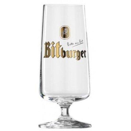 Bitburger German Pokal Beer Glasses 0.3L - Set of 2