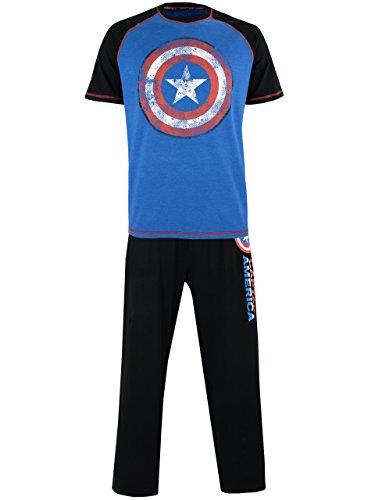 Marvel Herren Avengers Captain America Schlafanzug Large
