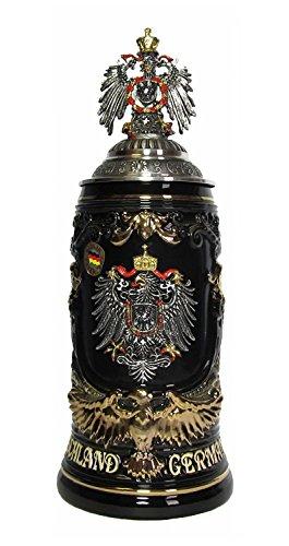 KING Jarra de Cerveza Alemana Escudo alemán, águila de Oro como asa,...