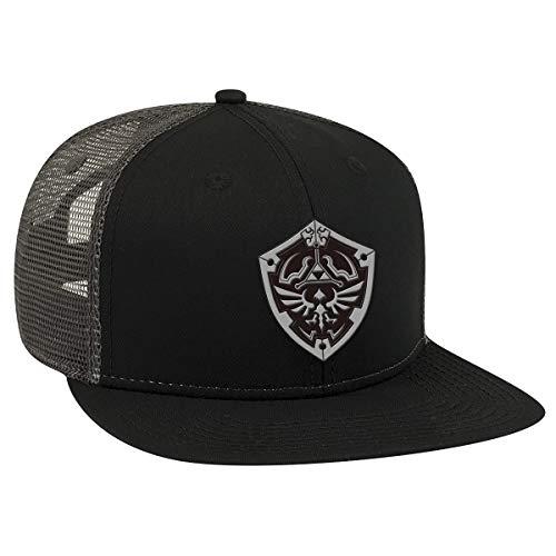 Controller Gear Unisex-Adult's The Legend of Zelda Hylian Shield Trucker Hat, Black, One Size