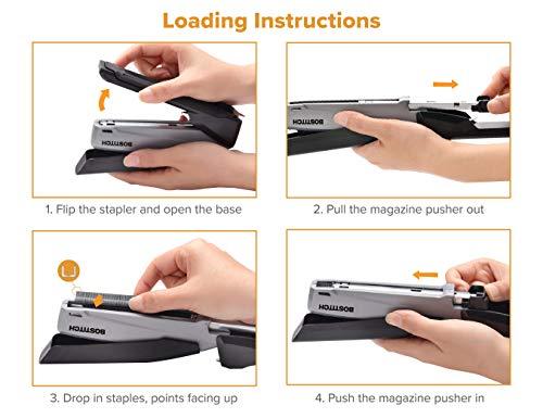 Bostitch Executive Stapler - 3 in 1 Stapler - One Finger, No Effort, Spring Powered Stapler, Black/Gray (INP20), 20 Sheets Photo #6