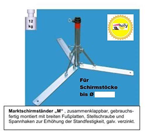 Nexos trading pied de parasol en 4 mm de diamètre en acier de allemand sTABIELO ® visière-- avec support rabattable-pour parasols d'un diamètre max. de 55 mm-nexos trading pied de parasol-porte-parapluie-fabriqué en allemagne-holly produits 55 m de large semelle sTABIELO ®-innovation fabriqué en allemagne-holly-sunshade ®-aussi longtemps que les prix stocks en bade-wurtemberg