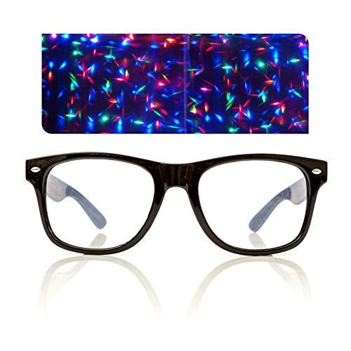 Black Starburst Diffraction Glasses - for Raves, Festivals and More