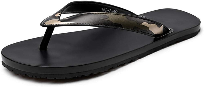 Men's shoes Outdoor Sports Men's Summer Men's Sandals Flip Flops Men's Leather Beach shoes Outdoor Slippers Men's shoes (color   5.5 US)