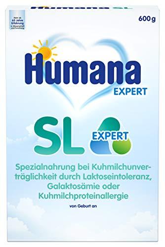 Humana SL Expert, Spezialnahrung bei Kuhmilchunverträglichkeit durch Laktoseintoleranz, 600 g