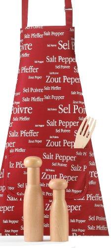 Winkler 2246035000 Tablier Sel / Poivre Rouge Scarlett