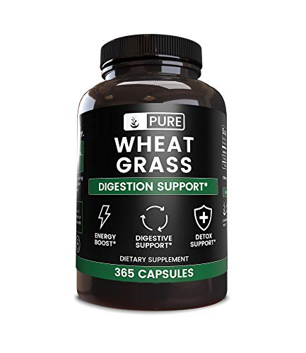 Raw Wheat Grass, Natural Vitamins & Minerals, Non-GMO, No Stearates or Rice Fillers, Lab-Tested for Purity, Made in The USA, Satisfaction 100% Guaranteed (900 mg)
