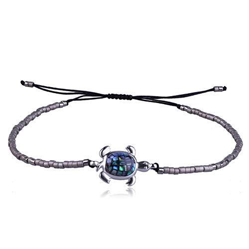 KELITCH Miyuki Perlen Abalone Schildkröte Wrap Armbänder Freundschaft Armband Neue Turtle Einstellbare Armbänder