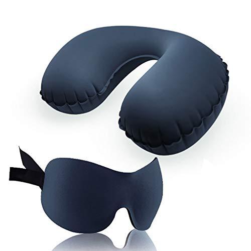 QARYYQ Sleep Mask Alaska Bear Sleep Mask Travel Set Inflatable Pillow Sleep Eye Mask Outdoor Portable Travel Supplies Inflatable Pillowcase Earplugs Eye mask (Color : A)