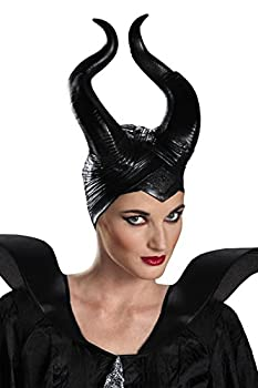 Disguise Women s Disney Maleficent Movie Maleficent Deluxe Adult Horns Costume Accessory Black One Size