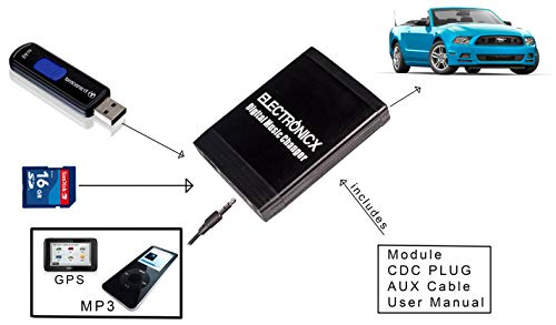 USB AUX mp3 adaptador Bluetooth Smart 450 452 fortwo CD cambiador manos libres