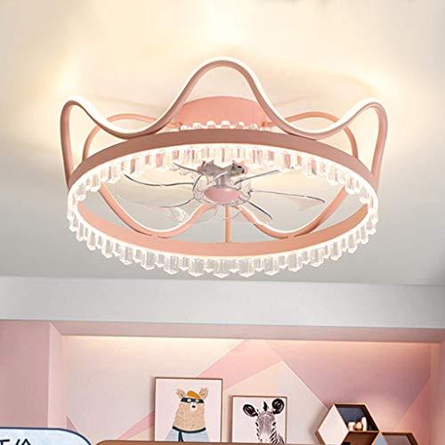 Ventiladores De Techo Con Luces Ventiladores De Techo Con Luces Ventilador De 40W S Luz De Techo Led Control Remoto Regulable Ventilador Ultra Silencioso Lámpara De Araña Dormitorio-Negro