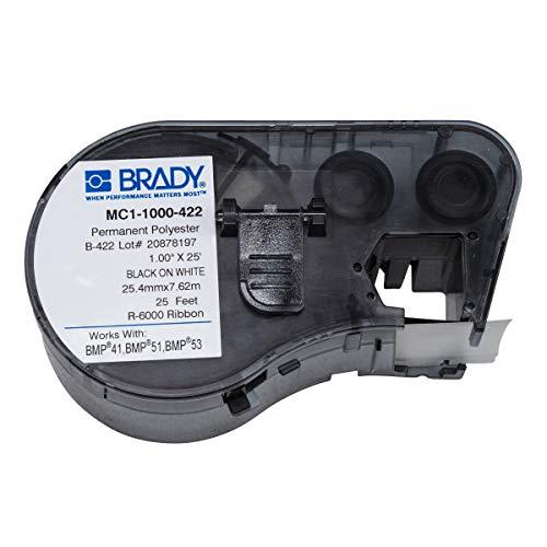 Brady 131595 zwart-wit labelprinter – etiketten om te printen (zwart, wit, printer, zelfklevend, polyester, thermotransfer permanent, rechthoekig)