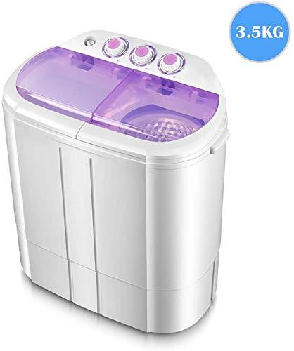Lavadora Portátil Compacto 2 En 1 Secadora De Ropa, Adecuado For Acampar Cuartos De Baño Balcón Dormitorio Se Puede Lavar 8kg / Púrpura